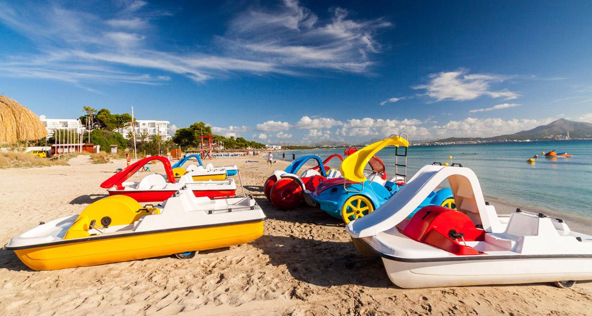 Paddelbåtar på Playa de Alcudia