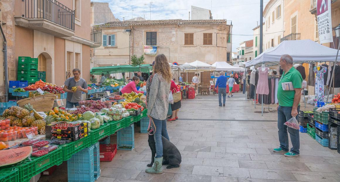 Marknad i Santanyi