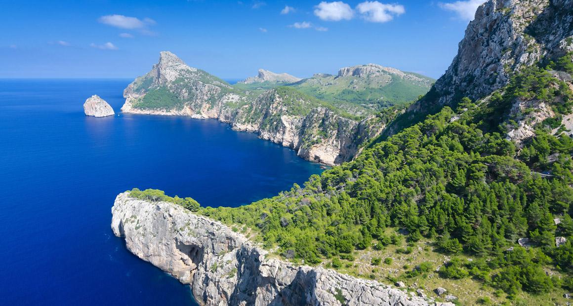 Vy från Cap de Formentor