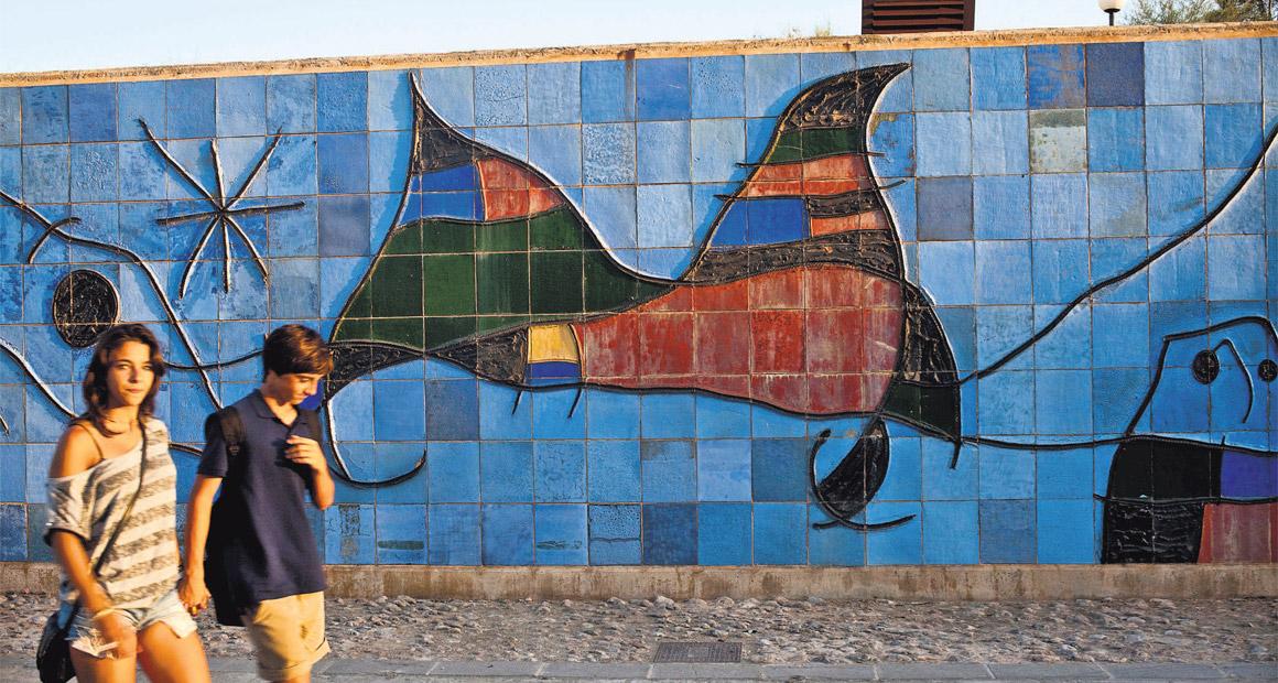 Väggmålning av Joan Miró