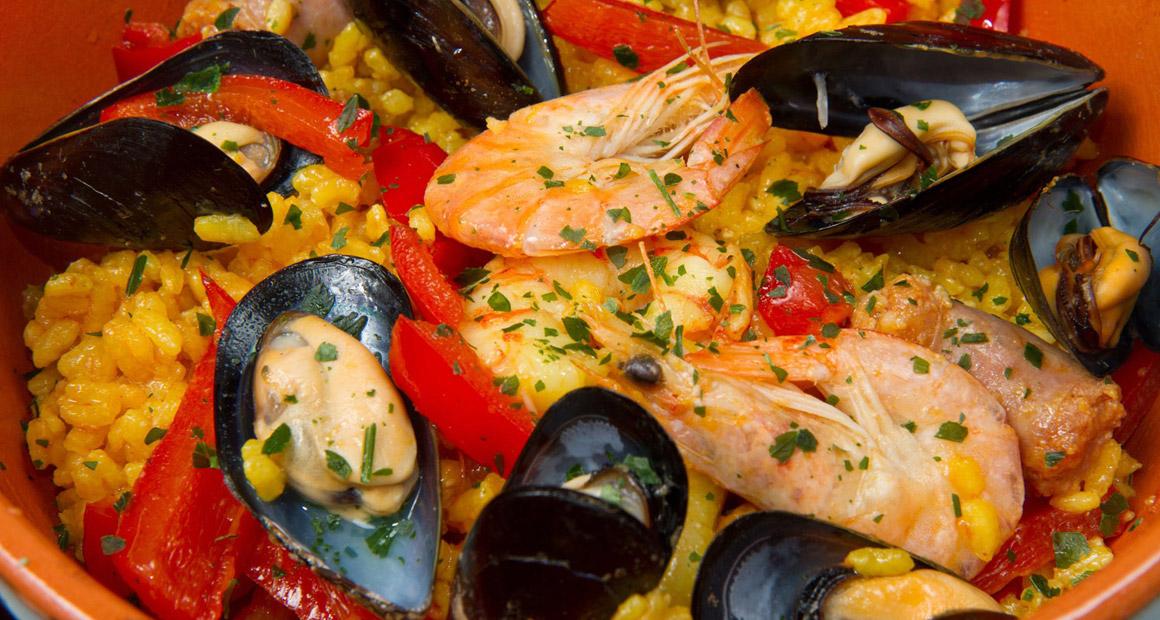 Paella är vanligt på Mallorca