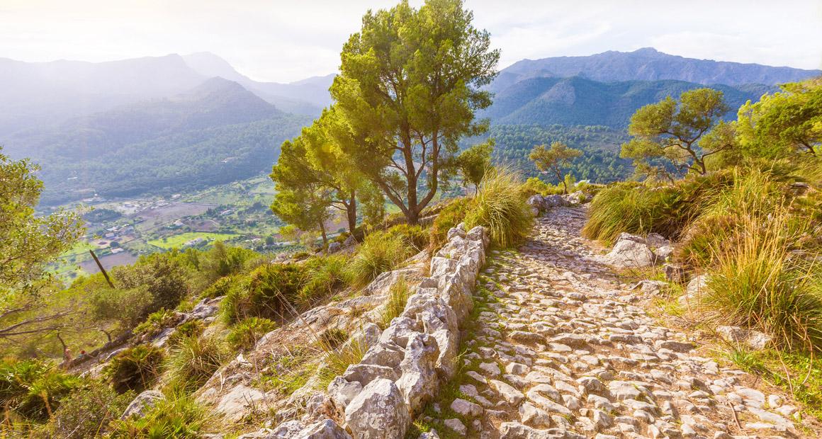 Vandringsled vid Puig de Maria